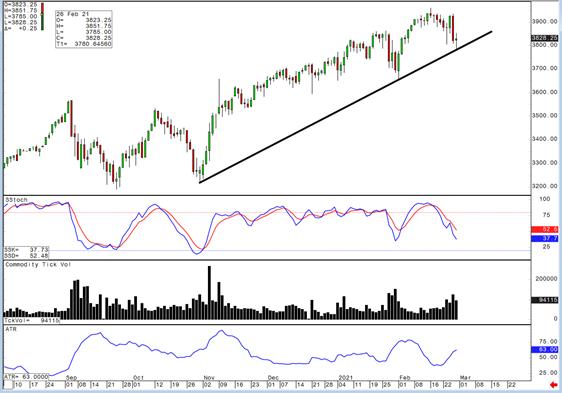 Daily S&P 500 Chart
