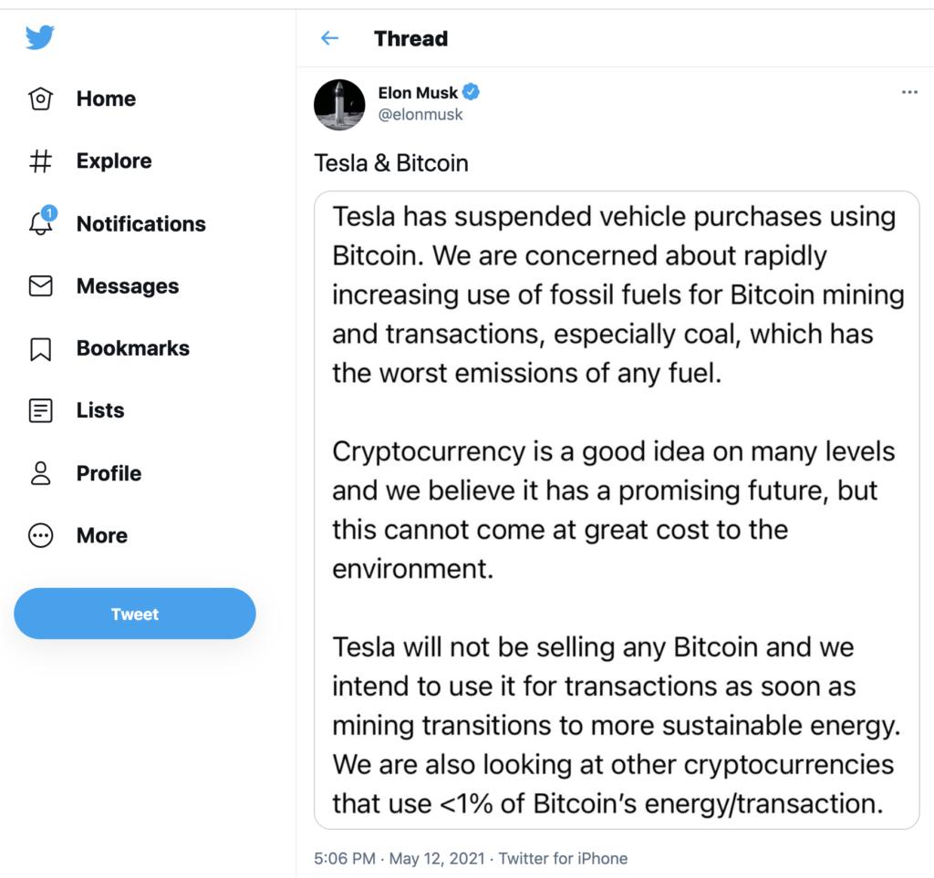 Bitcoin crash 2021