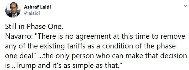 Cracks Appear in Trade Deal - Tweet Navarro (Chart 1)
